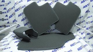 Коврики салона Aveo T200 T250 черные/черные (с 2003г-2011) EVA