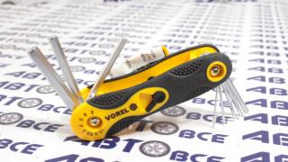 Набор ключей 6-ти гранных 1,5-8мм VOREL