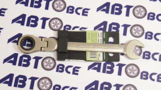 Ключ комбинированный трещеточный шарнирный 15мм ДелоТехники