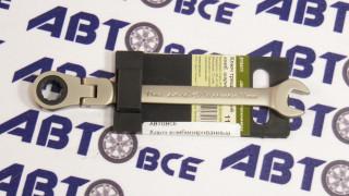 Ключ комбинированный трещеточный шарнирный 11мм ДелоТехники
