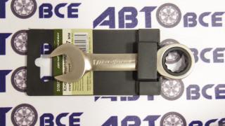 Ключ комбинированный трещеточный короткий 17мм ДелоТехники