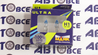 Лампа (галоген) H1 55W ULTRA P14,5s Super Light+100% (к-т 2шт) МАЯК
