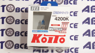 Лампа (галоген) H1 55W +100% KOITO (к-т 2шт)