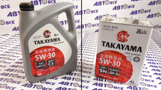Масло моторное 5W30 (синтетика) SN/ILSAC TAKAYAMA 4L