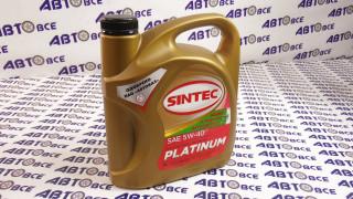 Масло моторное 5W40 (синтетика) SN/CF PLATINUM SINTEC 4L
