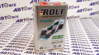 Масло моторное 10W40 (полусинтетическое) SJ/CF ROLF DYNAMIC 4L