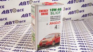 Масло моторное 10W40 (полусинтетическое) SL/CF XADO ENERGY DRIVE 4L