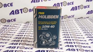 Масло моторное 10W40 (полусинтетическое) SL/СF MANNOL MOLIBDEN 1L