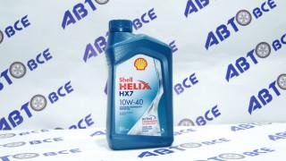 Масло моторное 10W40 (полусинтетическое) SN SHELL HELIX HX7 1L