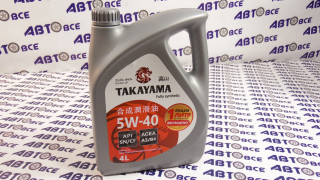 Масло моторное 5W40 (синтетика) SN TAKAYAMA 4L