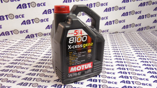 Масло моторное 5W40 (синтетика) SN MOTUL GEN2 X-CESS 8100 5L