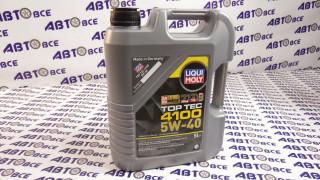 Масло моторное 5W40 (синтетика) SN/SF LIQUI MOLY TOP TEC 4100 5L