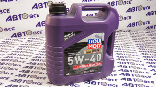 Масло моторное 5W40 (синтетика) SN/SF LIQUI MOLY SYNTHOIL HIGHT TECH 4L