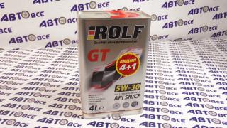 Масло моторное 5W30 (синтетика) SN/SF ROLF GT 4L