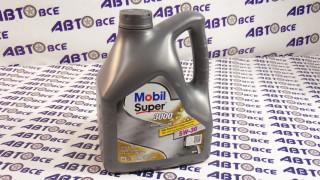 Масло моторное 5W30 (синтетика) SN MOBIL SUPER 3000 FE 4L