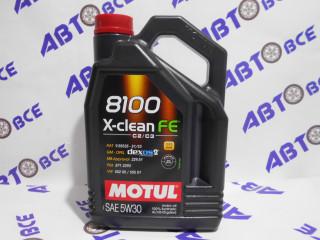 Масло моторное 5W30 (синтетика) SN MOTUL X-CLEAN FE 8100 4L