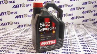 Масло моторное 5W30 (синтетика) SN MOTUL SYN-NERGY + 6100 4L