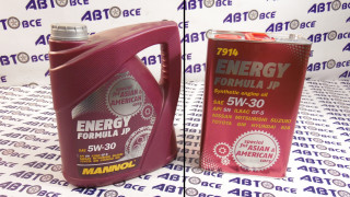Масло моторное 5W30 (синтетика) SN MANNOL ENERGY FORMULA JP 4L