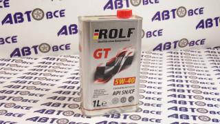Масло моторное 5W40 (синтетика) SN/CF ROLF GT 1L