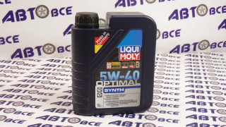 Масло моторное 5W40 (синтетика) SN/CF LIQUI MOLY OPTIMAL SYNTH 1L