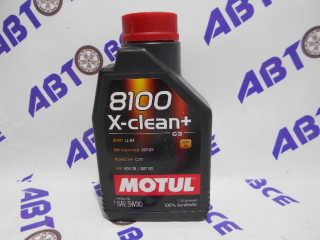 Масло моторное 5W30 (синтетика) SN MOTUL X-CLEAN + 8100 1L