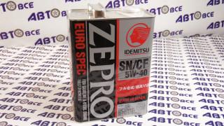 Масло моторное 5W40 (синтетика) SN/CF ZEPRO IDEMITSU 4L