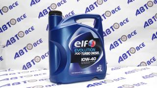 Масло моторное 10W40 (полусинтетическое) SN/CF ELF EVOLUTION 700 TURBO DIESEL 5L
