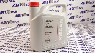 Масло моторное 5W40 (синтетика) A3/B4 NISSAN 5L