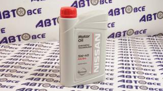 Масло моторное 5W40 (синтетика) A3/B4 NISSAN 1L
