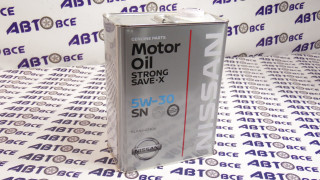 Масло моторное 5W30 (синтетика) SN NISSAN 4L (жб)