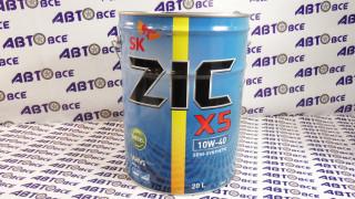 Масло моторное 10W40 (полусинтетическое) ZIC X5 DIESEL CI-4 20L