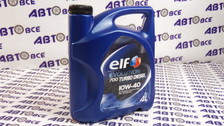Масло моторное 10W40 (полусинтетическое) SN/CF ELF EVOLUTION 700 TURBO DIESEL 4L