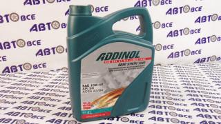 Масло моторное 10W40 (полусинтетическое) А3/В4 ADDINOL 4L
