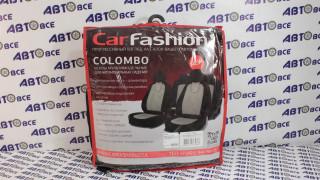 Чехлы COLOMBO Черный/Черный/Черный (Алькантара)