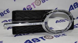 Рамка туманных фар Aveo 3 T250 левая в сборе хром JORDEN