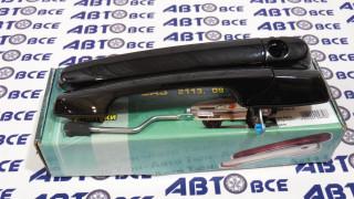 Ручки наружные евро (к-т 2 шт) ВАЗ-2108-2113 Черный Лак ТюнАвто
